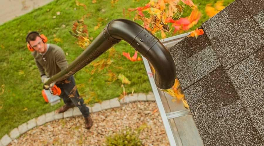 Gutter Cleaning from the Ground
